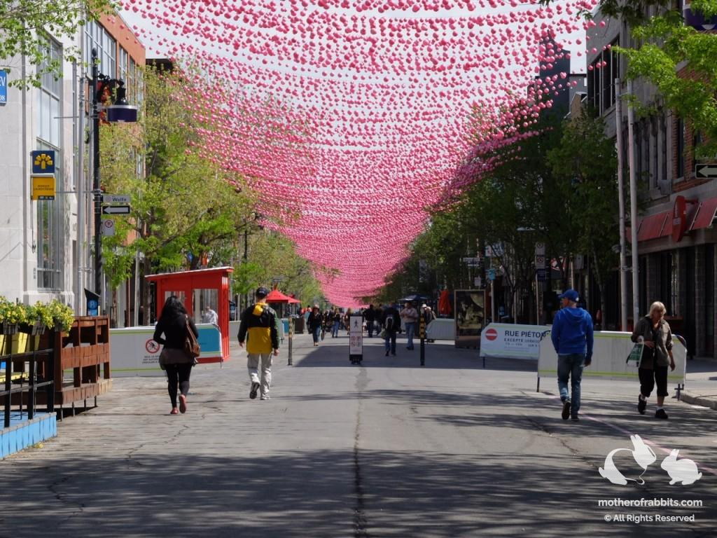 Rue Ste-Catherine in Montreal, Canada.