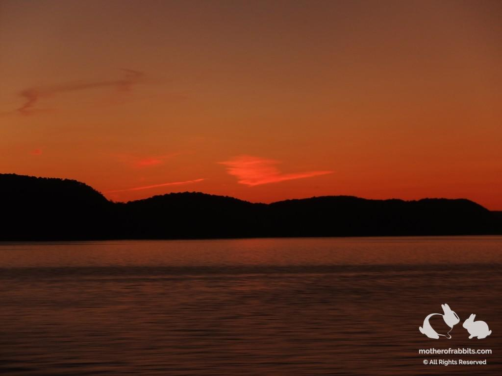 Sunset over the Hudson River. Photo on the top of this post: Bannerman Island.